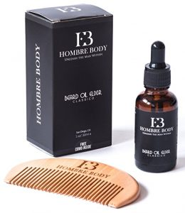 #6. Beard Oil and Comb Set-Beard Care Gift Kit for Men