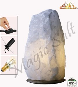 #6. Himalayan White Salt Rock Crystal Lamp