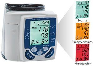 #6. Ozeri BP2M CardioTech Premium Series Digital Blood Pressure Monitor with Hypertension Color Alert Technology