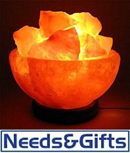 #7. Himalayan Salt Fire Basket 100% Pure Himalayan Crystal Lamp