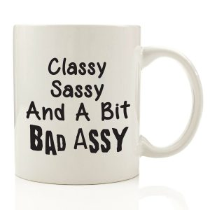 #8. Bad Assy Funny Coffee Mug Valentine's Day
