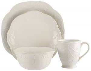 8. Lenox French Perle 4-Piece Place Setting, White