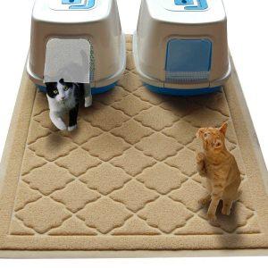 8. Non-toxic Jumbo Size Cat Litter Mat