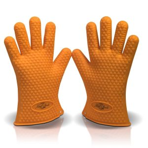 8. Silicone BBQ Grill Heat Resistant Gloves