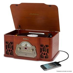 9. Electrohome EANOS501 Winston Turntable 3-in-1 Record player