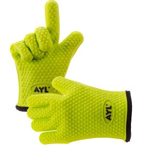 9. AYL Silicone Cooking Heat Resistant Gloves