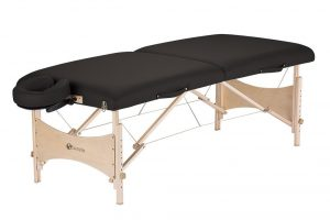1. Earthlite Harmony DX portable Massage Table (Black)