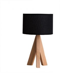 10. Irealise Desk Lamp Modern Tripod Wood Table Lamp