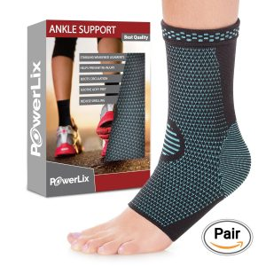 10.PowerLix Ankle Brace Compression Support Sleeve for Athletics