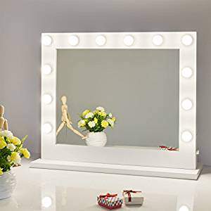 10. Chende Vanity Mirror with Light Hollywood Makeup Mirror