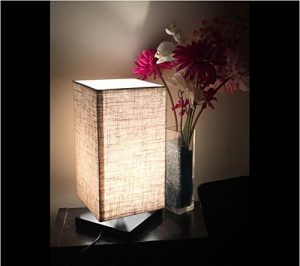 3. ZEEFO Simple Table Lamp Bedside Desk Lamp