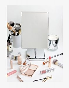4. Mirrorvana Rectangular Glass Surface 9.8 inch x 7 inch Non- Magnifying Vanity Mirror
