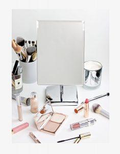 4. Mirrorvana Rectangular Glass Surface 9.8 inch x 7 inch Non- Magnifying Vanity Mirror