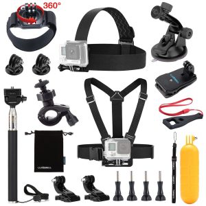 4. Luxebell Accessories kit for GoPro Hero 5 4 3+ 3 2 1 EK7000 AKASO (13-In-1)