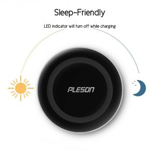 5. PLESON Wireless Charging Pad for Samsung Galaxy