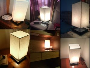 5. Finether Minimalist Novelty Romantic Wood Table Lamp