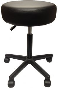 5) Adjustable Rolling Pneumatic Stool for Massage Tables