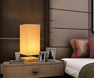 6. Surpas House Minimalist Solid Wood Table Lamp