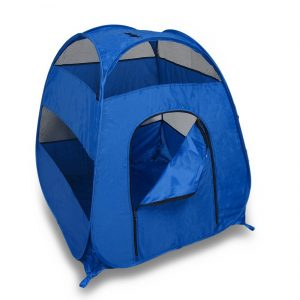 7. Blue Portable Pop-Up Tent Indoor Dog House