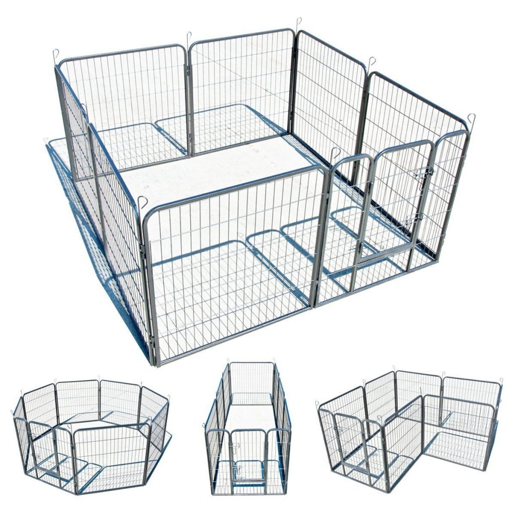 7. My1stPet 8 Panels Metal Exercise Dog Playpen