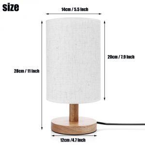 8. Table Lamps Invesch Bedside Minimalist Wood Table Lamp