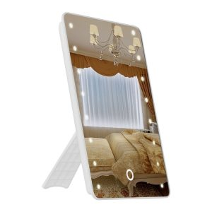 8. OENBOPO Foldable LED Lighted Vanity Mirror with Light