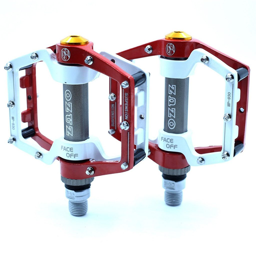 8. OZUZ BMX MTB Mountain Bike Bicycle Aluminum Pedals