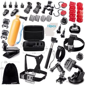 8. Zookki Accessories Kit for GoPro Hero