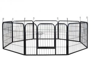 9. ShinShop 16 Panel Heavy Duty Cage Pet Dog Cat Barrier Fence