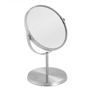 9. METRODECOR mDesign Swivel Free Standing Vanity Makeup Mirror