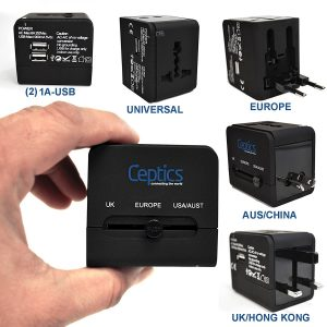 1. Ceptics All-In-One International Travel Plug Adapter