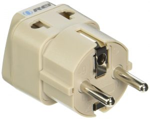 2. OREI European Plug Adapter