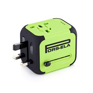 8. PORS-ELA International Travel Power Adapter