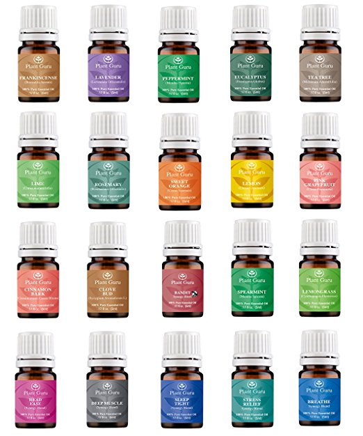 9. Aromatherapy Top 20 Essential Oil Set