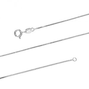 3. Sterling Silver 1mm Box Chain Necklace Solid Italian Necklace