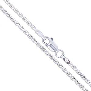 4. Sterling Silver Diamond-Cut Solid 925 Italy New Necklace