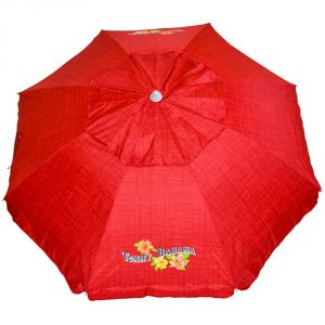5. Tommy Bahama Sand Anchor Beach Umbrella (Apple Red)