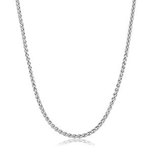 6. Sterling Silver 1.5mm Italian Round Wheat Chain