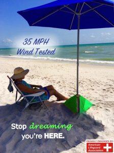 7. BeachBuB All-in-One Beach Umbrella S