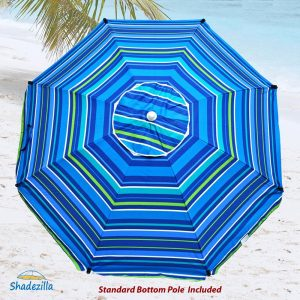 9. Premium Heavy Duty Fiberglass Umbrella (Stripe Pattern 834)