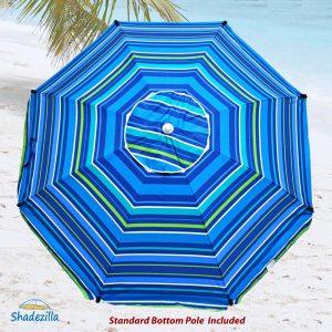 9. Premium Heavy Duty Fiberglass Umbrella (Stripe Pattern 834)