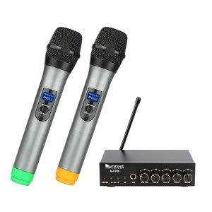 K036 Fifine Dual Channel Wireless Handheld Microphone