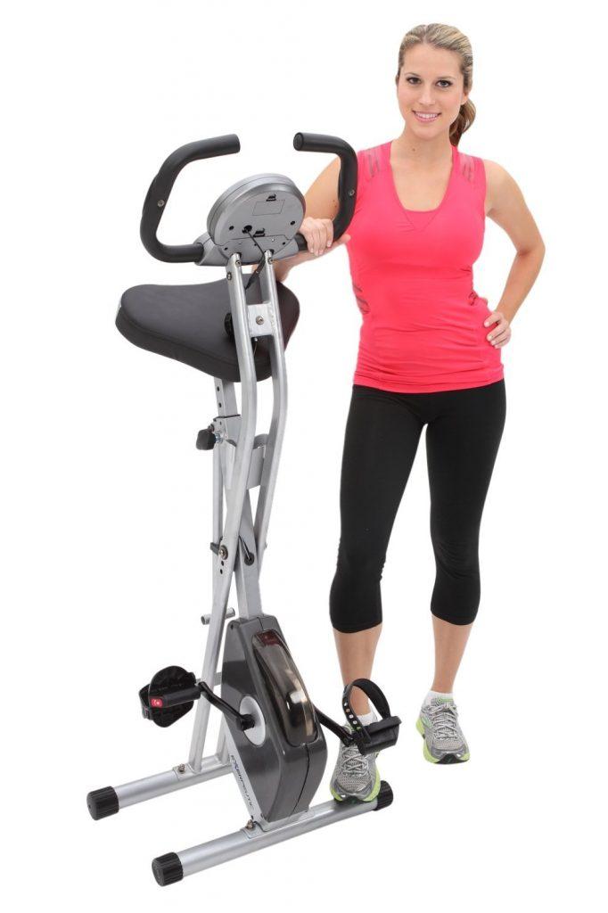 Exerpeutic folding exercise bike