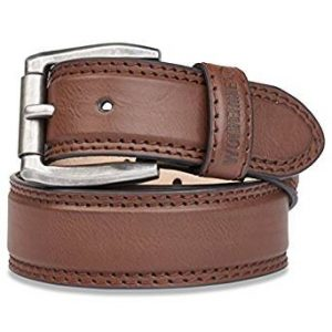 Wolverine Men's Double Topstitched Leather Belt