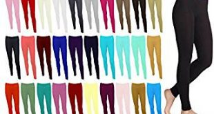 Plain Stretchy Leggings Viscose Lycra Sizes UK 8 - 26 Made in the UK