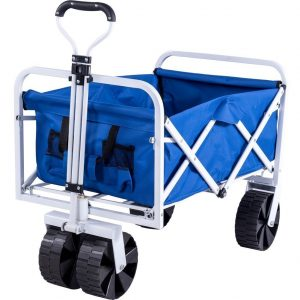 Serenity Collapsible Garden Cart Folding Utility Wagon with Large Whewagon