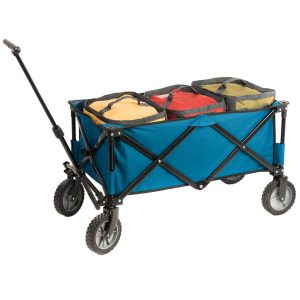Portal Collapsible Folding Utility Wagon with Cooler Bag, Garden Beach Cart