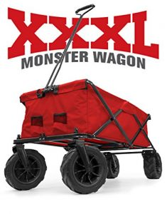 Creative Outdoor XXXL Monster Folding Wagon (Red)