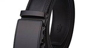 Dante Men's Leather Ratchet Dress Belt