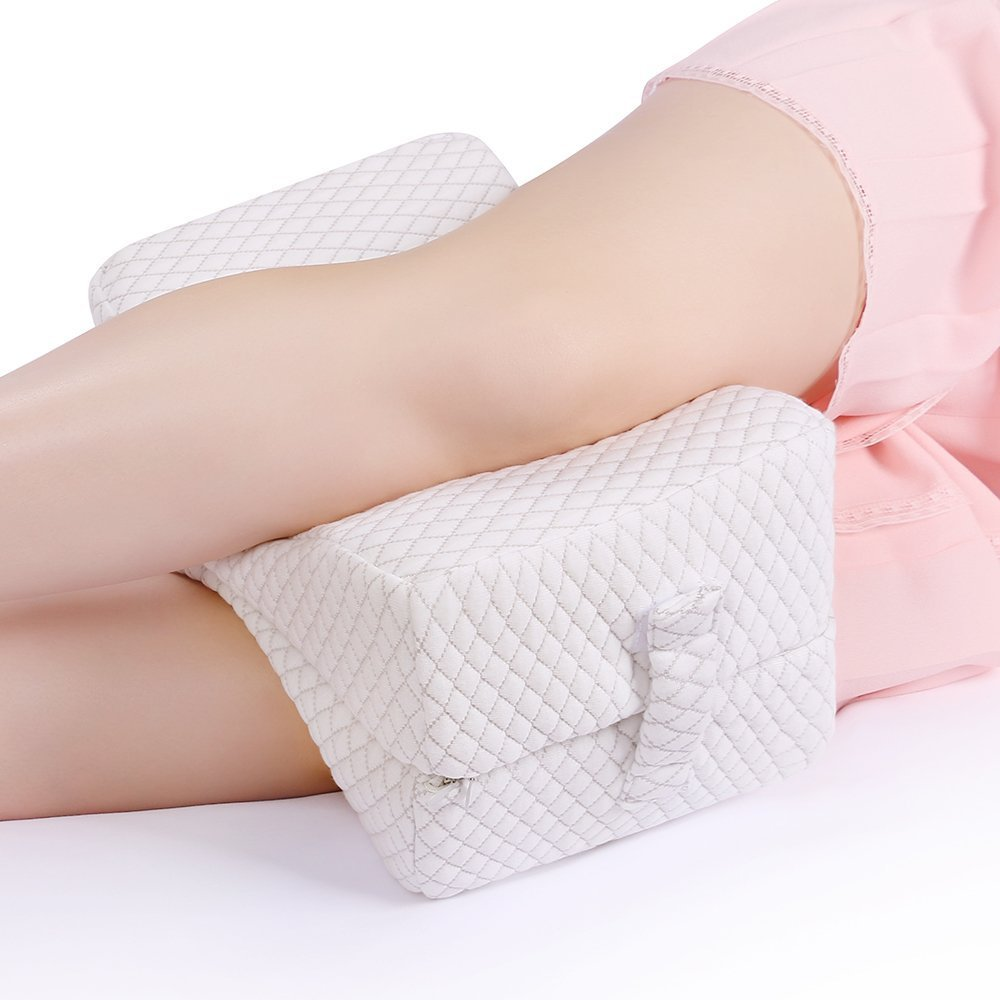 Memory Leg Pillow Cushion Hips Knee Comfort Support Pain Pressure Relief with Washable Cover OKBY Leg Pillow green